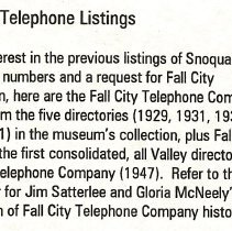 Image of 2008-029.019 - Fall City Telephone listings, 1929-1947
