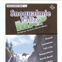 Image of 2008-033.002 - Snoqualmie Valley Map, 2008-2009, with business ads
