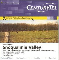 Image of 2008-033.030 - 2008 CenturyTel Directory, Snoqualmie Valley Area Code 425