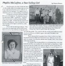 Image of 2008-039.005 - 2007 Fall City Newsletter article about Phyllis McCaffree