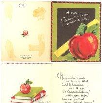 Image of 2008-044.004 - 1951 8th Grade Graduation Card, sent by Elva Polley to Doris Bush