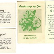 Image of 2009-004.006 - Feathergay Advertising Cards