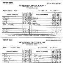 Image of 2009-012.JEK032 - Jack Kelley report cards, Sophomore and Senior years
