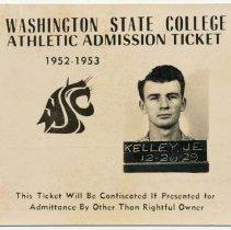 Image of 2009-012.JEK044 - Jack Kelley's WSU Athletic Admission ticket, 1952-53