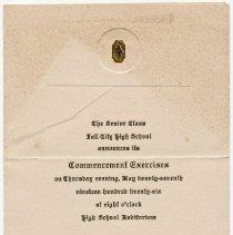 Image of 2009-012.SCH012 - Class of 1926 Fall City High School graduation announcement.