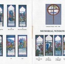 "Image of 2009-022.003f - Fall City United Methodist Church , ""Memorial Windows,"" booklet"