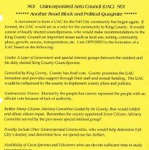 Image of 2010-005.013 - Documents, discussion on unsuccessful attempt to form an Unincorporated Area Council in Fall City in 2007