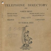 Image of 2011-003.001 - Telephone Directory, 1955, Fall City area