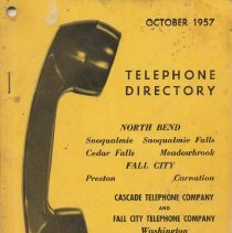 Image of 2011-003.003 - Telephone Directory 1957, Fall City area