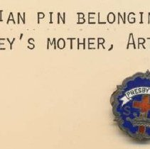 Image of 2011-006.AK036 - Presbyterian pin, Artie Kelley, Fall City