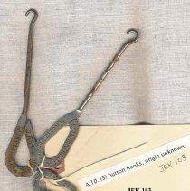Image of 2011-006.AK103 - Artie Kelley's shoe button hooks c1909 Fall City