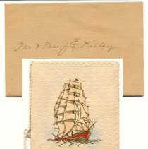 Image of 2011-006.AK192 - Early Christmas card, to Artie Kelley from brother Frank Burns, Fall City