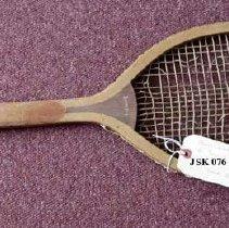 Image of 2011-006.JSK076 - Tennis racket c1915, Jesse Kelley, Fall City