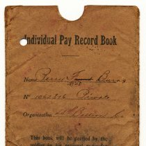 Image of 2011-006.PB240c-8 - Soldier's Individual Pay Record Book WW I , Perry Burns, Fall City