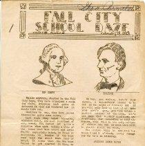 Image of 2012-006.008b - School newspaper, Fall City High School Feb. 19, 1943