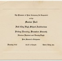 Image of 2013-005.042a-b - Senior Ball 1928, Jr-Sr Banquet 1930 Fall City