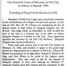 2014-006 058 - Royal Arch Masons coin, Howard A  Stow
