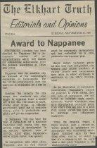 Nappanee article