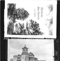 Image of 10.0002AR - [Two photographs of the Mission San Jose]