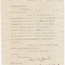 Image of From Adina De Zavala  to Charles Heurmann 7/25/1912