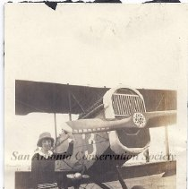 Image of 03.0064.01RS - Marjorie Stinson and plane