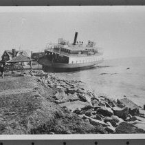 Image of P1983.035 - Governor Carr ferry ashore in front of Yacht Club gazebo