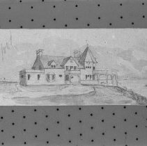 Image of P1983.044 - Sketch of Buffum Cottage
