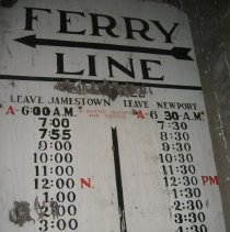Image of Ferry Schedule Sign