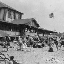 Image of P2004M.379 - Mackerel Cove Pavilion (Plat 11, Beavertail Rd: Mackerel Cove Pavilion, built 1928)