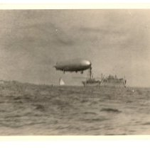 Image of P2012.029.006 - Dirigible moored to Navy Tanker