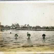Image of P2013.115.014 - Swimming at the town beach