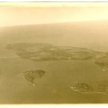 Image of P2014.107.002 - Aerial view of island.