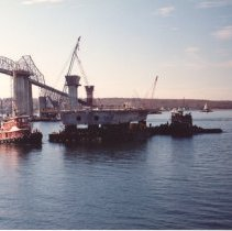 Image of P2014.119.016 - Construction of the New Jamestown Bridge
