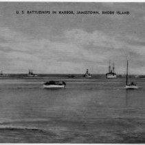 Image of P2015.112.022 - U.S. Battleships in Harbor,