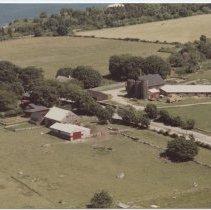 Image of P2016.019.008 - Aerial photo of farm on Conanicut Island