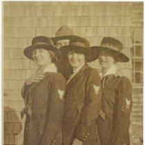 Image of P2017.005.001 - Three Women wearing Navy Yomen First Class WWI uniforms