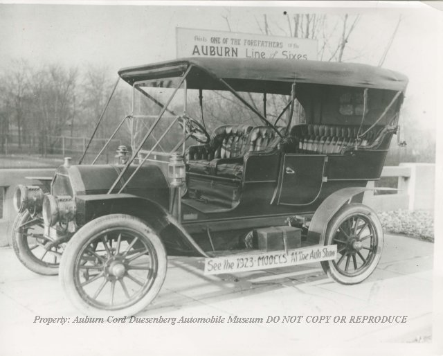 1908 Auburn Two-Cylinder Touring Model, with Lamps, Top, and ...