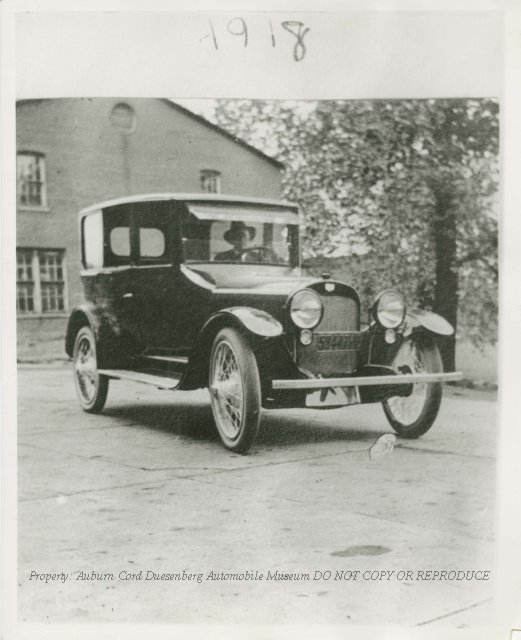 1918 Auburn Sedan 6-44 3/4 Front Right Profile with Man in ...