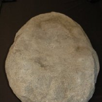 Image of Double-sided Metate, basin, granitic. Ventral vertical view, end A