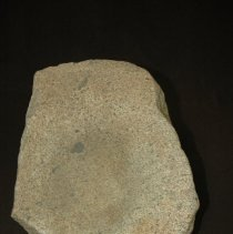 Image of Metate, basin, granitic. Ventral horizontal view, side A.