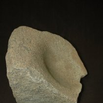 Image of Metate, basin, granitic. Ventral ventral view, side B.