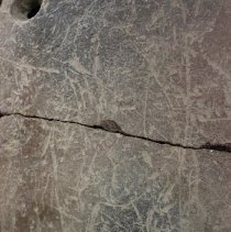 Image of Surface scratches over vessel.