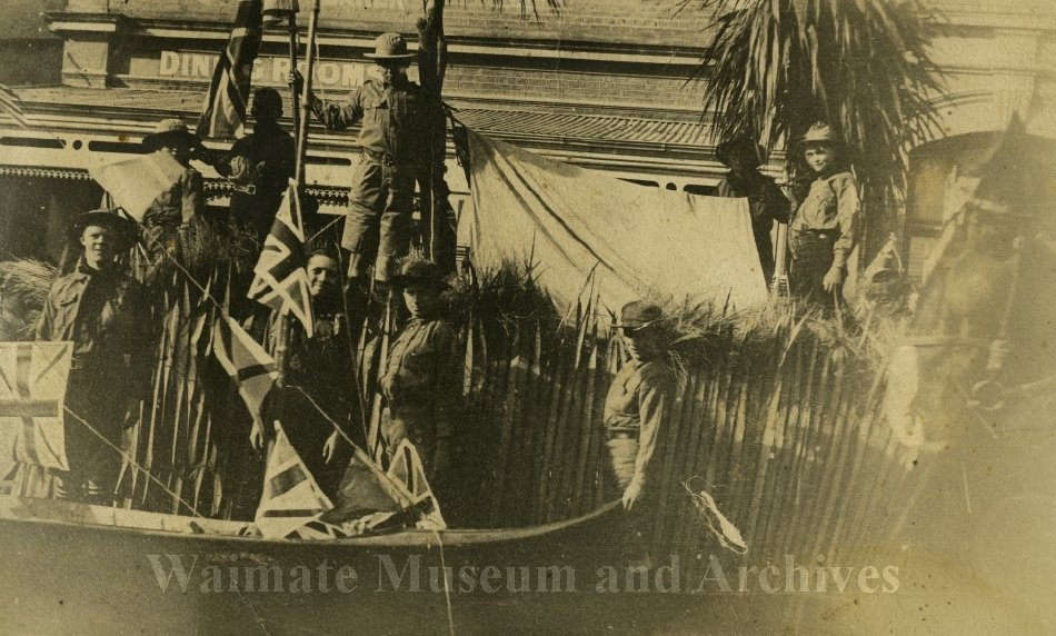 St Augustine's Scout Troop display at WWI Peace Celebrations - Waimate Museum and Archives