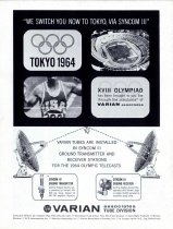Image of Varian at the 1964 Tokyo Olympics, Varian Associates Magazine, Oct 1964
