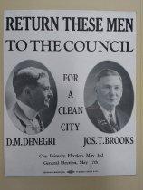 Image of San Jose City Council campaign poster, c. 1924