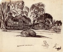 Image of Frontier Village View of Main Street sketch