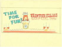 Image of Frontier Village sign sketch