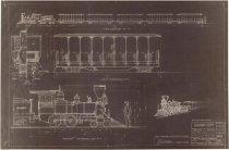Image of Frontier Village train design schematic