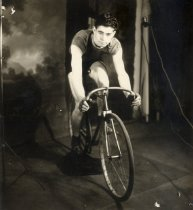 Image of Studio portrait of bicycle racer