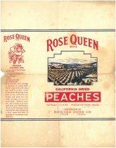 Image of Rose Queen California Dried Peaches label